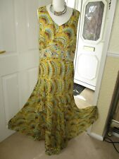 BNWT Savoir Sheer Lined Long Dress with Bead Embellishment Size 24