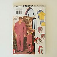 Butterick Sewing Pattern 6887 Pajamas Father / Son All Sizes Included Vtg 2000