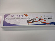 West Wings Toucan radio controled Balsa model aeroplane kit electric power kit