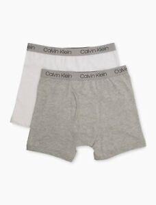 Calvin Klein 2 Pack Cotton Stretch Logo Boxer Briefs Boy's Size XL 13407