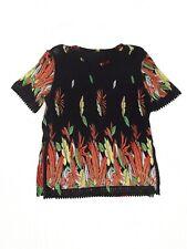maglia donna nero floreale stretch taglia xl extra large