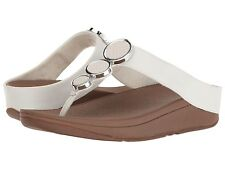 NEW FitFlop Halo Toe Thong Sandals, Urban White Leather, Women Size 11, $100