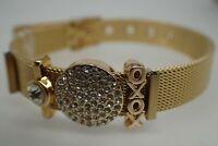 Bracelet en or jaune de 18 carats massif avec diamants XoXo pour femmes, 8 '20cm