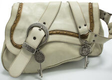Christian DIOR Gaucho double Saddle Shoulder Bag Sac a bandouliere Sac Off-White