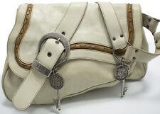 Christian Dior Gaucho Double Saddle Shoulder bag Schultertasche Tasche Off-White
