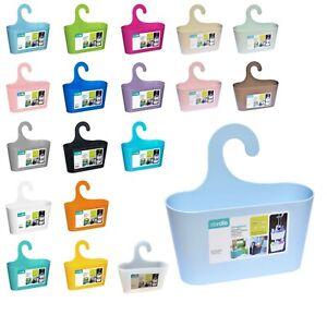 Duschregal Duschkorb Badkorb m. Haken Utensilo Badregal ohne Bohren viele Farben
