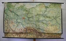 Schulwandkarte Wandkarte Karte DDR Deutschland Pommern Schlesien 216x127cm ~1956