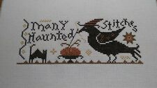 """Completed Cross Stitch """" many haunted stitches """""""