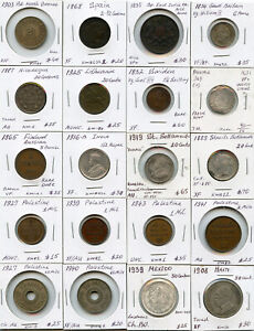 WORLD MIX COINS 1600'S-1900'S ISSUE 20 WORLD COINS COLLECTION RARE & NICE LOT.