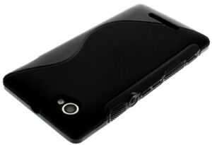 For Sony Xperia L C2104 / C2105 S Line Silicone Gel Skin Case - Anti-Slip Grip