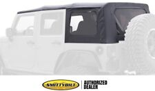 10-18 JEEP WRANGLER UNLIMITED REPLACEMENT BLACK SOFT TOP TINT WINDOWS 9085235