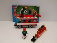 LEGO Sports Soccer Set 3426 Team Transport Bus Adidas Football w/Manual