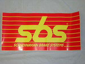 SBS Stickers/Decal. x 1. New. Size 42.5cm x 20.5cm.