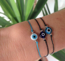 Evil eye string bracelet, 3 colors to choose from, Greek jewelry