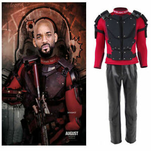 Suicide Squad DC Deadshot Floyd Lawton Outfits Cosplay Costume Halloween