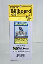 BLAIR LINE Z-HO SCALE 1518 GENERAL ELECTRIC LASER CUT BILLBOARD