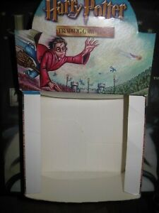 HARRY POTTER TCG QUIDDITCH CUP DISPLAY BOITE EMPTY ENGLISH + 3 EMPTY ARTWORKS