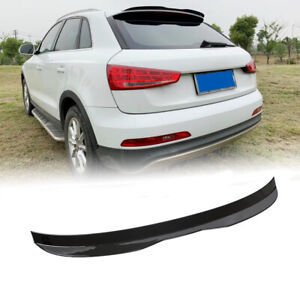 Glossy Black Rear Roof Spoiler Top Window Wing Lip For Audi Q3 2013-2018 Painted