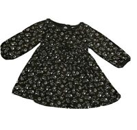 Toddler Girls GYMBOREE Long Sleeve Brown 100% Cotton Dress Puppies Size 2T
