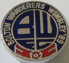 BOLTON WANDERERS FC Rare vinage 1989 FOOTBALL LEAGUE TROPHY FINAL Badge 17mm Dia