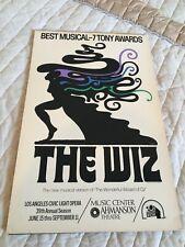 1977 The Wiz Music Center Ahmanson Theatre Civic Light Opera Theater Window Card