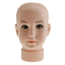 Child Pvc Mannequin Head Model Mannequin Hair Wig Display Stand