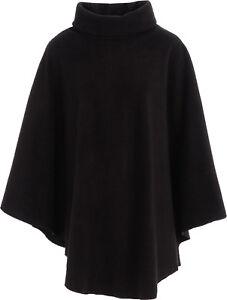 Ladies Fleece Poncho Capes Polo Neck Anti Pill Fleece Cosy Winter Warm KK57