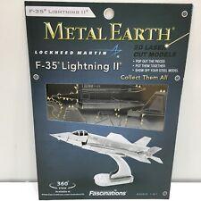 Metal Earth Steel 3D Model Military F-35 Lightning Ii Jet, Unopened Pkg