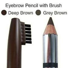 EYEBROW PENCIL WITH BRUSH 02 DEEP BROWN LONG STAY MAKKI