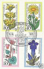 Berlin 1975: Alpenblumen! Wohlfahrtmarken Nr 510-513 mit Ersttags-Sonderstempel!