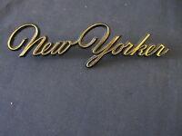 "CHRYSLER ""NEW YORKER ""  GOLD   EMBLEM    SCRIPT TRIM    METAL"