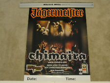Chimaira Jagermeister Promotional Poster - NEW