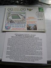 Rushden & DIAMONDS RARO 2001 TIMBRO Copertura problema Liga stagione
