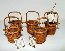 Set of 5 Nantucket Basket Tea Light Posy Candle Holders~NEW