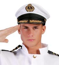 Adulti Deluxe ufficiale della Marina Militare Capitani Bianco in Raso Costume Cappello