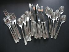 Radad Silverplate Flatware - Israel - 24 pc  Dessert Tea Set Forks Spoons Knives