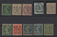 G137952/ FRENCH SYRIA – VARIETIES – YEAR 1920 MINT MH SEMI MODERN LOT