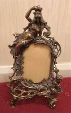 Antique Victorian Art Nouveau Bronze Picture Frame