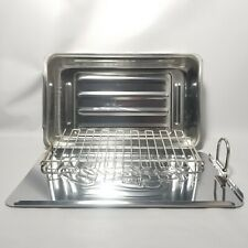 """Camerons Mini Stove Top Grill Smoker W/ Wood Chips 11.5""""X 7""""X 2"""" Stainless Steel"""
