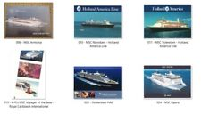 9 postcards CRUISE SHIPS - TRANSPORTATION - ship