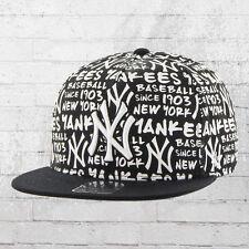 47 Brand Kappe NY Yankees MLB Allover Basecap Snapback Cap schwarz weiss Mütze