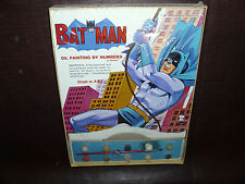Vintage Batman Hasbro Oil Paint By Numbers DC Comic Rare JLA Adam West MIMB 1965