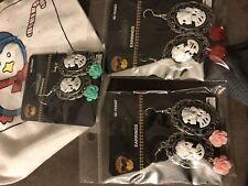 Earrings Rose Skull (3 Pairs Pierced)