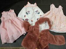 Pretty girls dress & fluffy jacket bundle age  2-3