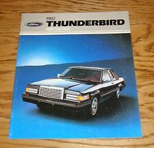 Original 1982 Ford Thunderbird Sales Brochure 82 Heritage Town Landau