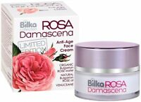 Bilka Rosa Damascena Rejuvenating Anti Age Face Cream Natural Rose Oil 40ml