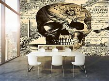 Vintage Skull  Wall Mural Photo Wallpaper GIANT WALL DECOR Paper Poster