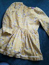 12-18 mesi bambina vestito giallo manica lunga