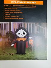 Yikes In The Yard Inflatable Grim Reaper Self Inflatable Light Up Halloween