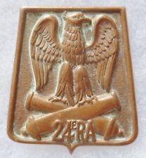 Insigne 24° RA ARTILLERIE Sabretache Aigle Empire ORIGINAL variante AB H626